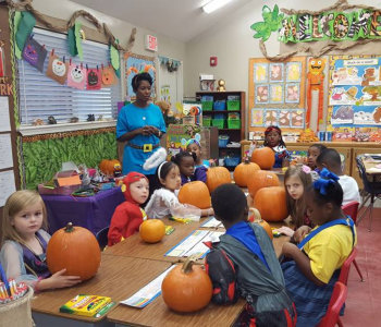 kids and their teacher